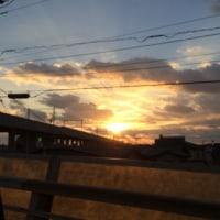 元日の夕陽♪