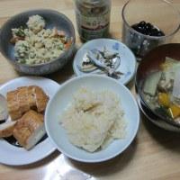朝食とカマスの塩焼きの夕ご飯