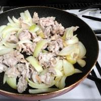 01月18日 豚肉と玉ねぎのケチャップ炒め