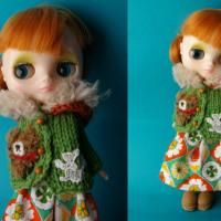 ミディちゃんの緑パーカー