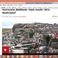 やっぱり起こったハイチのコレラ流行(ハリケーン・マシュー)
