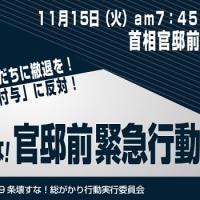 11.15「駆けつけ警護」など閣議決定反対官邸前行動