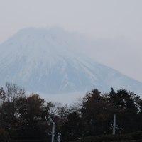 うっすらとした富士