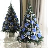 ♪ブルーローズのクリスマスツリー♪