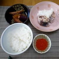薩摩芋と鶏手羽中の煮物
