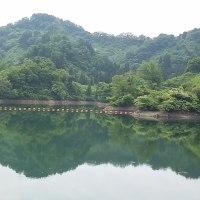 隠れた栃が原ダムに自然の良さを見た。