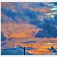 前の畑からの西の空<平成28年10月23日(日)午後5時28分>