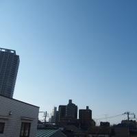 今朝(3月22日)の東京のお天気:晴れ、(3月の作品:花を持つ少女)