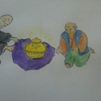 ぶんぶく茶釜 のさし絵