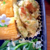 磯辺かしわ天のお弁当  Chicken tempra obento