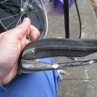 チューブラータイヤのパンク修理 ~ 2回目