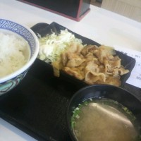 吉野家豚生姜焼定食