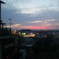 玉手山よりの夕景