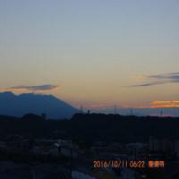 10月11日、朝の桜島