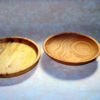 トチのお盆と杉の浅鉢が仕上がり