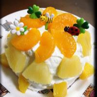 水切りヨーグルトのフルーツケーキ♡