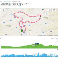 丹生川周回、47キロ。涼しさを実感しながら。