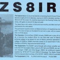 ZS8Z マリオン島が JT65 QRV