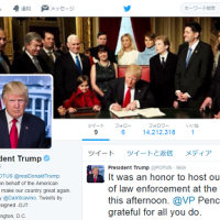 1月22日(日)のつぶやき ドナルド・トランプ 米大統領 公式Twitterアカウント 移行ミス 稀勢の里 横綱 大相撲