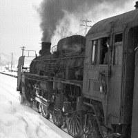 蒸気機関車 列車待ち 宗谷本線