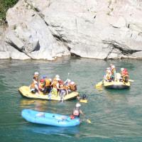 球磨川のラフティング