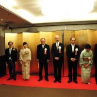 青垣幹夫氏藍綬褒章受章記念祝賀会に出席。遠方からもたくさんの方がお祝いに来られました。
