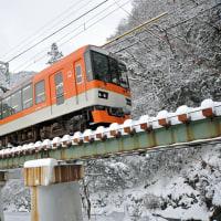 雪の叡山電鉄を行く(5)