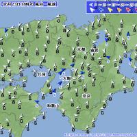 6月23日 アメダスと天気図。