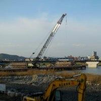広島県福山市草戸町・新橋の橋脚建設工事2
