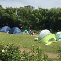 公園でキャンプ⁉︎
