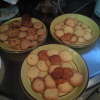 今年もクッキーを焼く兄妹