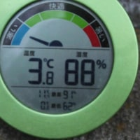 平成29年3月30日・今朝の東祖谷3.8℃