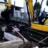 解体工事、間もなく終わります。