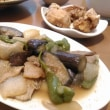 ズッキーニの豚バラ巻きと、夏野菜色々