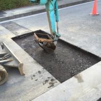 給水管閉塞工事の舗装