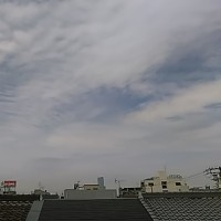 本日大阪東住吉区・駒川中野上空地震雲。