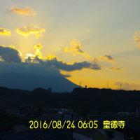 08月24日、朝の桜島