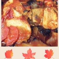 カレーとトマト煮