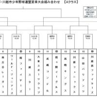 市長杯/川越少年野球連盟夏季大会 抽選会実施