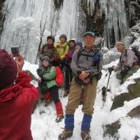 宝満山--難所が滝