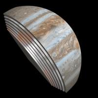 ジュノーによる木星のスライス