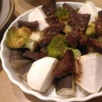 焼き鯖や、グリル野菜とビーフ