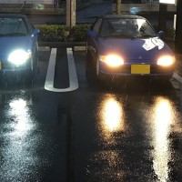 my BEAT君 の純正球と LED & HID装着車との比較。