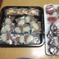バレンタインのお菓子と新作イラストクッキー