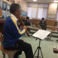 琴と尺八の授業