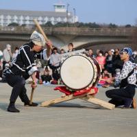 和太鼓の公演 松戸21世紀の森にて