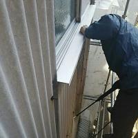 外壁塗装工事の高圧洗浄作業!