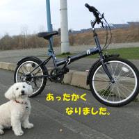 今日は自転車初日