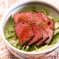 ステーキ丼&海老チリ
