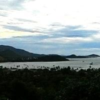 空港近く山側からの景色